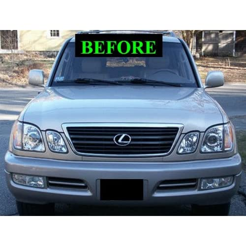 1998-2007 LEXUS LX470 CHROME GRILL GRILLE KIT 1999 2000 2001 2002