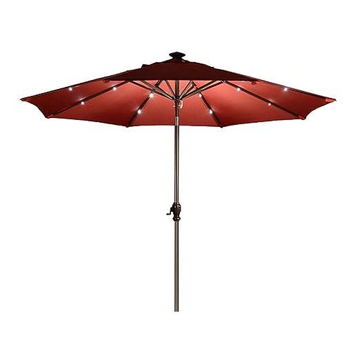 Parasol LZPQ 300cm Sombrilla reclinable Tipo Luz LED Playa Jardin Tumbona: Amazon.es: Jardín