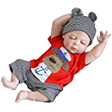 Lilith 23 Inch 57cm Sleeping Reborn Doll Baby BOY Soft Silicone Vinyl Realistic Looking Lifelike Baby Dolls with Magnet Pacifier Anatomically Correct