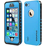 Eonfine iPhone 5 5s Full Sealed Shockproof Case With Touch ID Heavy Duty Protective Case Cover For iPhone 5 5s Light Blue