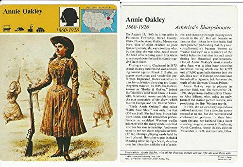 1979 Panarizon, Story Of America, #02.20 Annie Oakley, Wild - Oakley America