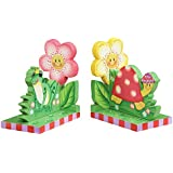 Fantasy Fields - Magic Garden Thematic Set of 2 Wooden Bookends for Kids | Imagination Inspiring Hand Crafted & Hand Painted Details | Non-Toxic, Lead Free Water-based Paint