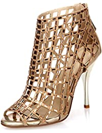 Embellished Cutout High Heel Bootie Rhinestone Studded Sandal Heels Dress Sandal