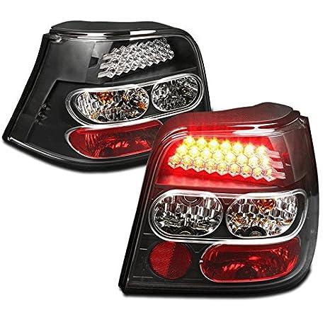 zmautoparts Volkswagen Golf IV 4 LED cola luz de freno negro izquierda + derecha Set: Amazon.es: Coche y moto