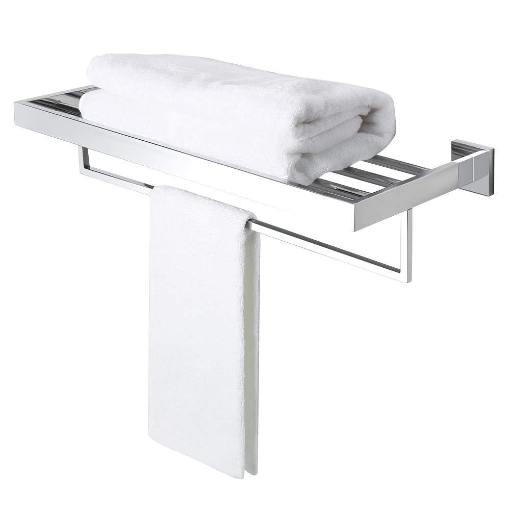 Alise GA7215-C Bathroom Towel Rack/Rail Holder Towel Shelf Hanger Wall Mount,SUS 304 Stainless Steel Polished Chrome