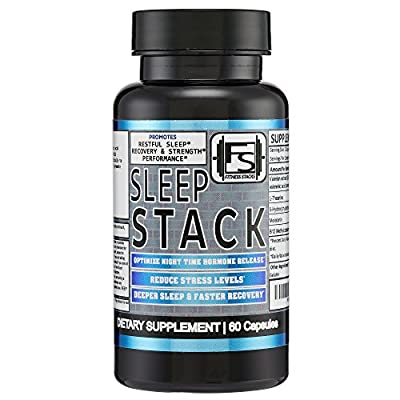 Sleep Stack - Night Time Fat Burner & Sleep Aid & Recovery Supplement - with 5-HTP, Valerian Root + Melatonin and more- 60 Capsules