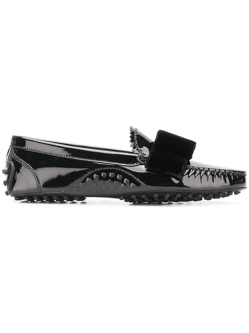- Tod's Women's XXW00G0BI81L64B999 Black Leather Loafers