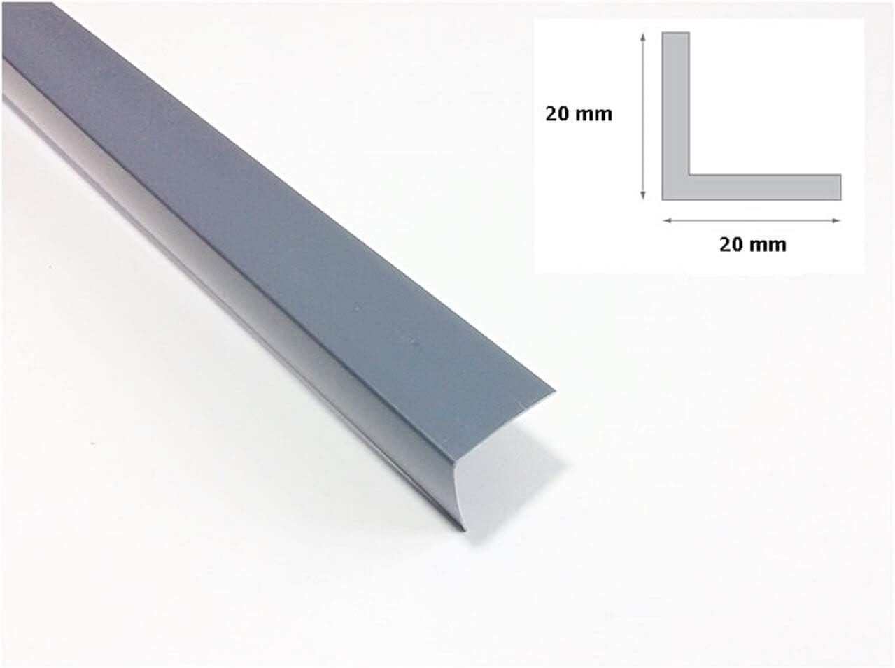 17 x 5 mm PVC Winkel Kunststoffwinkel Winkelprofile Kunststoffleiste Profil Eckschutzleiste Kantenschoner ungleich Grau 1m 106