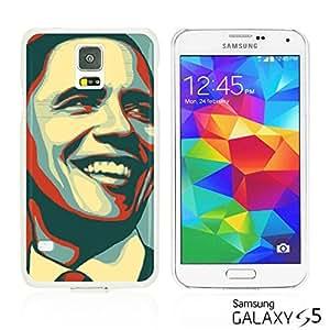 OnlineBestDigital - Art Paintings Hardback Case for Samsung Galaxy S5 - American President Barack Obama