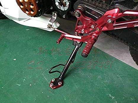 Ocamo Pata de Apoyo Lateral de extensi/ón Kickstand CNC para Honda MSX Grom 125 2012-2015 Negro