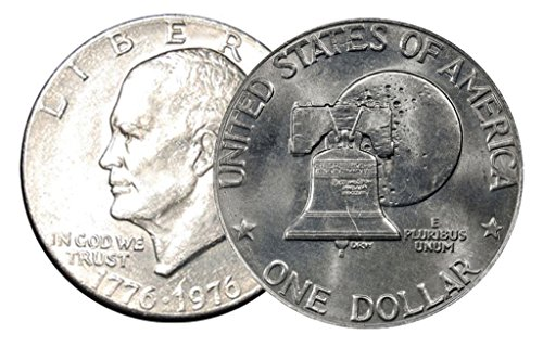 1976 D Type 2 BU Clad Uncirculated Eisenhower Dollar 1976 Eisenhower Dollar Type