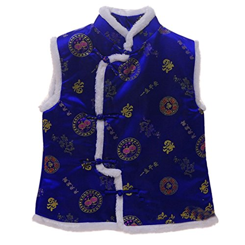 (ESHOO Kids Boys Vest Chinese Traditional Style Tang Suit)