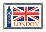 London England Travel Luggage Vinyl Sticker Decal