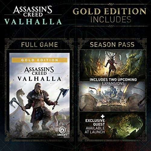 Assassin's Creed Valhalla Xbox Series X|S - Pre-load, Xbox One Gold Edition [Digital Code]