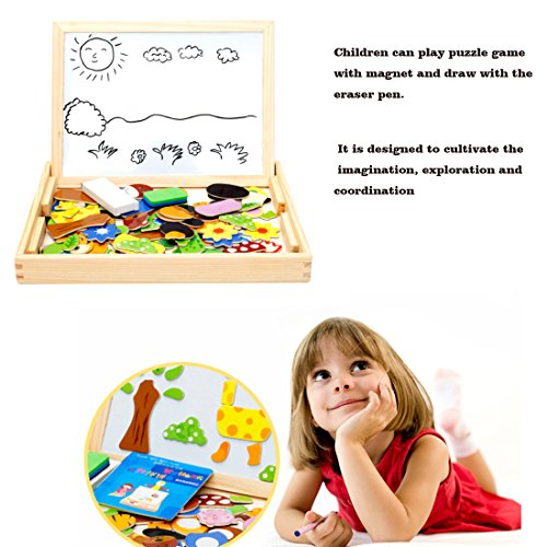 Wondertoys Magnetic Puzzle Art Easel Board Games with Dry Erase Educational Toys for Children by Wondertoys (Image #2)