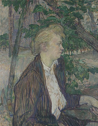 (The Polyster Canvas Of Oil Painting 'Henri De Toulouse Lautrec Woman Seated In A Garden ' ,size: 12 X 15 Inch / 30 X 39 Cm ,this Reproductions Art Decorative Canvas Prints Is Fit For Powder Room Gallery Art And Home Gallery Art And Gifts)