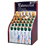 Synthetic Watercolor Brush Display