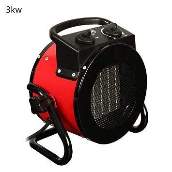 Jannyshop 3KW Calentador Industrial Calentador de Aire Caliente Secador de Ventilador de Calefacción Calentador de Taller de Garaje: Amazon.es: Hogar