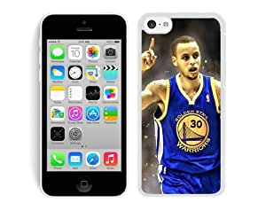 New Custom Design Cover Case For iPhone 5C Generation Golden State Warriors Stephen Curry 3 White Phone Case wangjiang maoyi