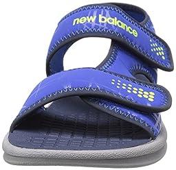 New Balance Sport 2 Strap Adjustable Sandal (Infant/Toddler/Little Kid/Big Kid), Grey/Blue, 3 M US Little Kid