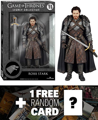 Robb Stark: Funko Legacy Collection x Game of Thrones Action Figure + 1 FREE Official Game of Thrones Trading Card Bundle [41106]