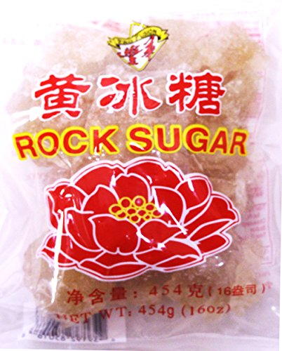Lung Po Rock Crystals Sugar  Yellow Lump Raw Cane Sugar  16Oz  1 Paxk