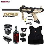 MAddog Tippmann Cronus Tactical Beginner Protective HPA Paintball Gun Package - Black/Tan