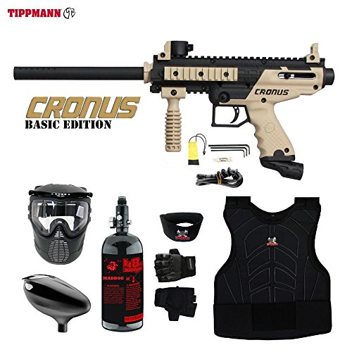 MAddog Tippmann Cronus Beginner Protective HPA Paintball Gun Package – Black/Tan Review