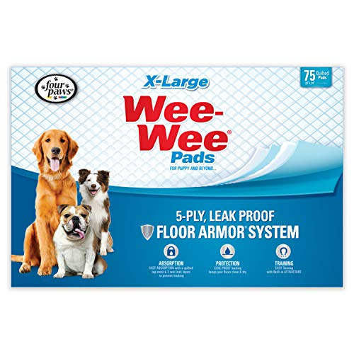 Wee Wee Dog Pee Pads Extra Large | 75 Count | Puppy Training Pee Pads for Dogs | XL Size (X-large Wee Wee Pads)