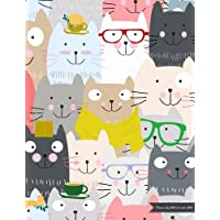 Planner July 2018-December 2019: Two Year - Daily Weekly Monthly Calendar Planner | 18 Months July 2018 to December 2019 For Academic Agenda Schedule Organizer Logbook and Journal Notebook Planners | Colorful Cat Cover