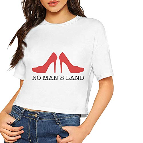 Women's T-Shirt No Mans Land Short Sleeves Lumbar Tee White