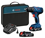 Bosch GSR18V-190B22 18V Compact 1/2'' Drill/Driver Kit with (2) 1.5 Ah Slim Pack Batteries