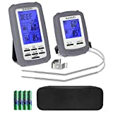 Sunavo Wireless Remote Cooking Meat Thermometer Digital with Large LCD and Timer Alarm