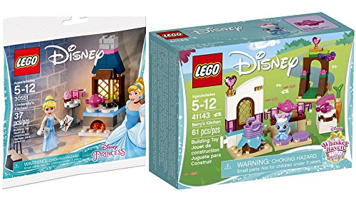 LEGO Disney Princess Cinderella's Kitchen & Mini Figure with invitation to the Enchanted Ball 30551-1 + Whisker Haven Berry's Kitchen Palace Pets 41143 Building Kit fun 2-pack