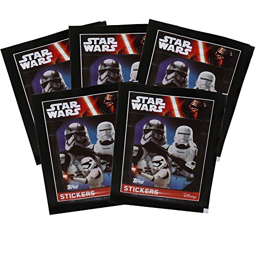 Topps Collectible Stickers - Star Wars The Force Awakens Series 1 - 5 Pack (Star Wars Series 1 Sticker)
