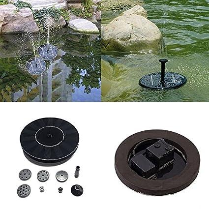 Swiftswan - Bomba de agua solar para fuente de baño con energía solar (1,