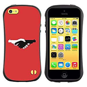 Paccase / Suave TPU GEL Caso Carcasa de Protección Funda para - Guns Violence Deep Red Design Pistol - Apple Iphone 5C