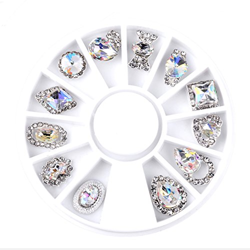 UPC 754769854274, Crystal Bling Metal Rhinestones Embellishments Cabochons Decoden Nail Brooches Jewelry Shoes DIY Decor (AB Crystal Alloy Studs Set)