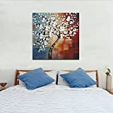 Wieco Art Morning Glory Modern Abstract White