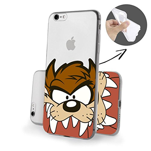Silicona Looney Tunes Close Up Serie Iphone FBA - Taz Close Up, Iphone 7 Plus Taz Close Up 2