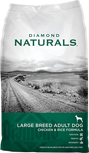Diamond Chicken (Diamond Naturals Chicken Flavor Dry Food for Adult Dogs, Large Breed 60+ Formula, 40 Pound Bag)