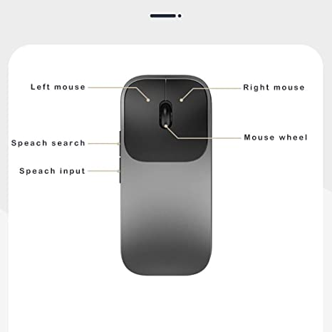 Amazon.com: [AI Voice Input] Ratón inalámbrico recargable ...