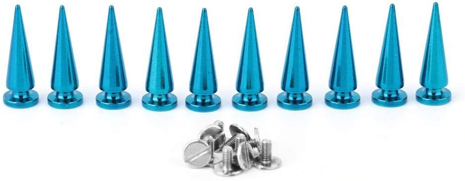 Blue DIY Colorful Brass Spikes Punk Studs Rivet Bullet Screw Back Button Decoration Clothes Jackets Jeans Wears HEEPDD 10 Sets Spikes Studs