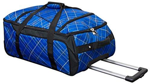 Reiseset Trolleytasche und Tasche blau aus 600 D Nylongewebe bedruckt Stoff mit Schloss für Trolleytasche von Börkey Trolley Case Fa. Bowatex