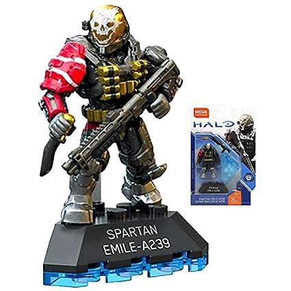 Amazon.com: CONSTRUX Spartan Emile-A239 Halo Heroes Mega ...