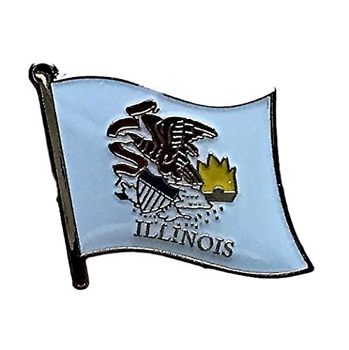 (Backwoods Barnaby Illinois Flag State Lapel Pin (IL, 0.75