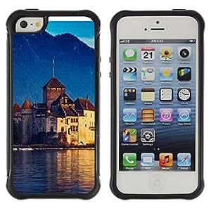 Pulsar Defender Series Tpu silicona Carcasa Funda Case para Apple iPhone 5 / iPhone 5S , Lake Geneva Switzerland