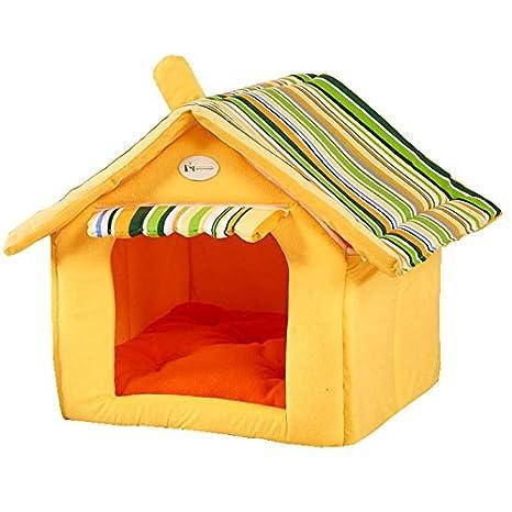 Yiuu Casa De Perro Suave De Productos para Animales De Cama del Perro del Refugio Casa
