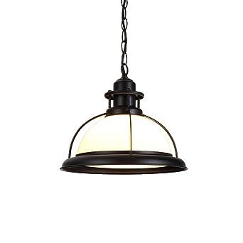 LZDHY Moderne Eisen Glas Kronleuchter Decken Pendelleuchte Hohe  Lichtdurchlässigkeit Home Cafe Hängende Lichter