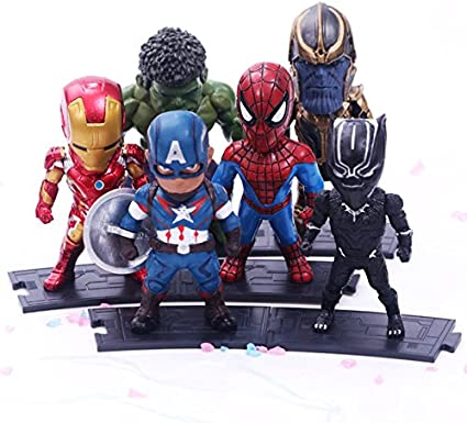 Black Panther Avengers Infinity War Toy Mini Figures X 8 use with lego Thanos